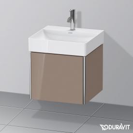 Duravit XSquare Waschtischunterschrank mit 1 Auszug Front cappuccino hochglanz / Korpus cappuccino hochglanz, ohne Einrichtungssystem