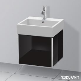 Duravit XSquare Waschtischunterschrank mit 1 Auszug Front schwarz hochglanz / Korpus schwarz hochglanz, ohne Einrichtungssystem