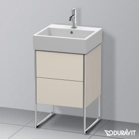 Duravit XSquare Waschtischunterschrank mit 2 Auszügen Front taupe matt / Korpus taupe matt, ohne Einrichtungssystem