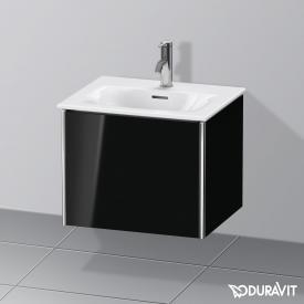 Duravit XSquare Handwaschbeckenunterschrank mit 1 Auszug Front schwarz hochglanz / Korpus schwarz hochglanz