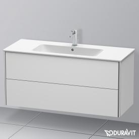 Duravit XSquare Waschtischunterschrank mit 2 Auszügen Front weiß seidenmatt / Korpus weiß seidenmatt, mit Einrichtungssystem Ahorn