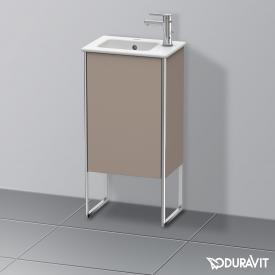 Duravit XSquare Waschtischunterschrank mit 1 Tür Front basalt matt / Korpus basalt matt