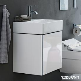 Duravit XSquare Waschtischunterschrank mit 1 Tür Front weiß hochglanz / Korpus weiß hochglanz