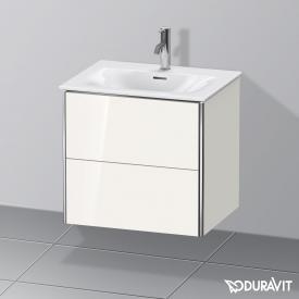 Duravit XSquare Waschtischunterschrank mit 2 Auszügen Front weiß hochglanz / Korpus weiß hochglanz, ohne Einrichtungssystem