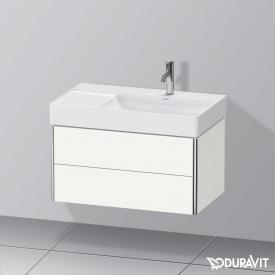 Duravit XSquare Waschtischunterschrank mit 2 Auszügen Front weiß seidenmatt / Korpus weiß seidenmatt, ohne Einrichtungssystem