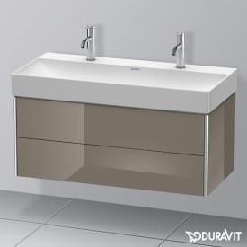 Duravit XSquare Waschtischunterschrank mit 2 Auszügen Front flannel grey hochglanz / Korpus flannel grey hochglanz, ohne Einrichtungssystem