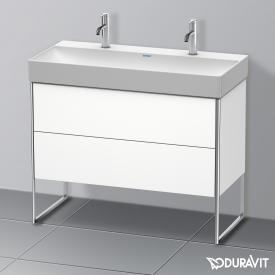 Duravit XSquare Waschtischunterschrank mit 2 Auszügen Front weiß matt / Korpus weiß matt, ohne Einrichtungssystem