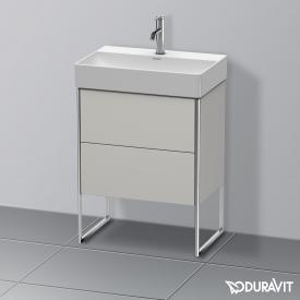 Duravit XSquare Waschtischunterschrank Compact mit 2 Auszügen Front betongrau matt / Korpus betongrau matt, ohne Einrichtungssystem