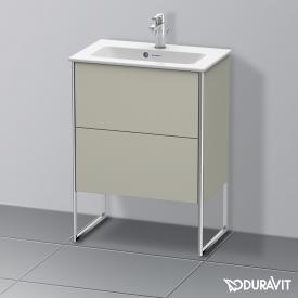 Duravit XSquare Waschtischunterschrank Compact mit 2 Auszügen Front taupe seidenmatt / Korpus taupe seidenmatt, ohne Einrichtungssystem