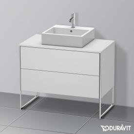 Duravit XSquare Waschtischunterschrank für Konsole mit 2 Auszügen Front weiß seidenmatt / Korpus weiß seidenmatt, mit Einrichtungssystem Ahorn