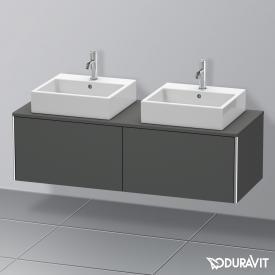 Duravit XSquare Waschtischunterschrank für Konsole mit 2 Auszügen Front graphit matt / Korpus graphit matt, ohne Einrichtungssystem