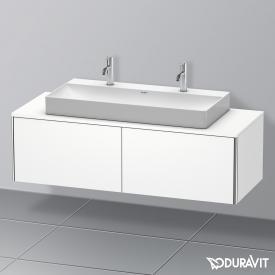 Duravit XSquare Waschtischunterschrank für Konsole mit 2 Auszügen Front weiß matt / Korpus weiß matt, mit Einrichtungssystem Ahorn