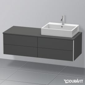Duravit XSquare Waschtischunterschrank für Konsole mit 4 Auszügen Front graphit matt / Korpus graphit matt, ohne Einrichtungssystem