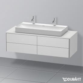 Duravit XSquare Waschtischunterschrank für Konsole mit 4 Auszügen Front weiß seidenmatt / Korpus weiß seidenmatt, mit Einrichtungssystem Ahorn