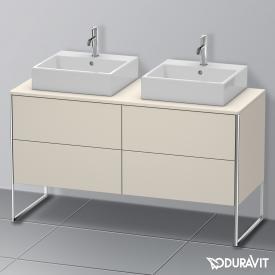 Duravit XSquare Waschtischunterschrank für Konsole mit 4 Auszügen Front taupe matt / Korpus taupe matt, ohne Einrichtungssystem