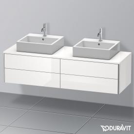 Duravit XSquare Waschtischunterschrank für Konsole mit 4 Auszügen Front weiß hochglanz / Korpus weiß hochglanz, mit Einrichtungssystem Ahorn