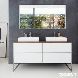 Duravit XSquare Waschtischunterschrank für Konsole mit 4 Auszügen Front weiß matt / Korpus weiß matt, ohne Einrichtungssystem