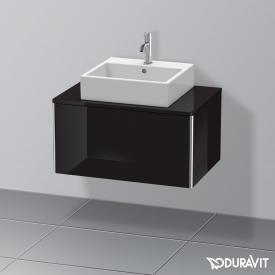 Duravit XSquare Waschtischunterschrank für Konsole mit 1 Auszug Front schwarz hochglanz / Korpus schwarz hochglanz, ohne Einrichtungssystem