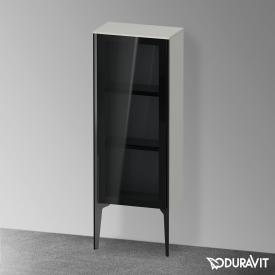 Duravit XViu Halbhochschrank mit 1 Glastür Front parsol grau / Korpus betongrau matt, Kante schwarz matt