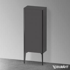 Duravit XViu Halbhochschrank mit 1 Tür Front graphit matt / Korpus graphit matt, Kante schwarz matt