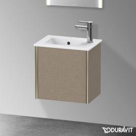 Duravit XViu Handwaschbeckenunterschrank mit 1 Tür eiche kaschmir, Kante champagner matt, ohne Einrichtungssystem