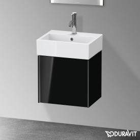 Duravit XViu Handwaschbeckenunterschrank mit 1 Tür schwarz hochglanz, Kante schwarz matt, ohne Einrichtungssystem