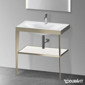 Duravit XViu Möbelwaschtisch mit Metallkonsole weiß hochglanz/champagner matt