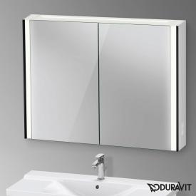 Duravit XViu Spiegelschrank mit LED-Beleuchtung Icon Version, schwarz matt