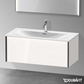 Duravit XViu Waschtischunterschrank mit 1 Auszug weiß hochglanz, Kante schwarz matt, ohne Einrichtungssystem