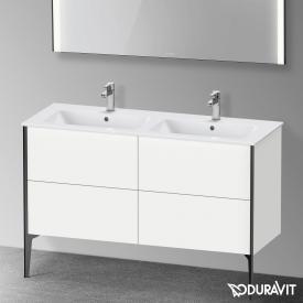Duravit XViu Waschtischunterschrank mit 4 Auszügen weiß matt, Kante schwarz matt, ohne Einrichtungssystem