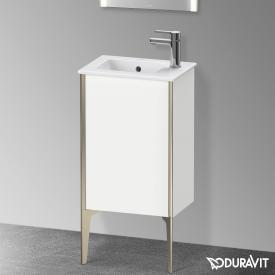 Duravit XViu Waschtischunterschrank mit 1 Tür weiß matt, Kante champagner matt, ohne Einrichtungssystem