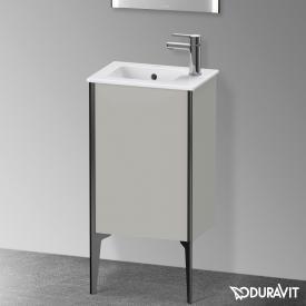 Duravit XViu Waschtischunterschrank mit 1 Tür betongrau matt, Kante schwarz matt, ohne Einrichtungssystem