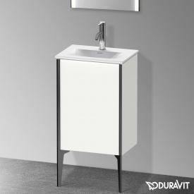 Duravit XViu Waschtischunterschrank mit 1 Tür weiß matt, Kante schwarz matt, ohne Einrichtungssystem