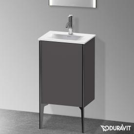 Duravit XViu Waschtischunterschrank mit 1 Tür graphit matt, Kante schwarz matt, ohne Einrichtungssystem
