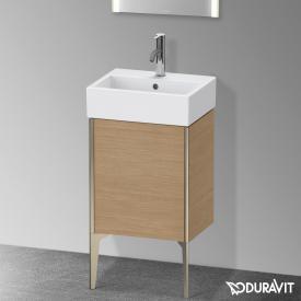 Duravit XViu Waschtischunterschrank mit 1 Tür europäische eiche, Kante champagner matt, ohne Einrichtungssystem