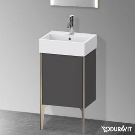 Duravit XViu Waschtischunterschrank mit 1 Tür graphit matt, Kante champagner matt, ohne Einrichtungssystem