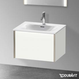 Duravit XViu Waschtischunterschrank mit 1 Auszug weiß matt, Kante champagner matt, ohne Einrichtungssystem