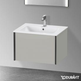 Duravit XViu Waschtischunterschrank mit 1 Auszug betongrau matt, Kante schwarz matt, ohne Einrichtungssystem