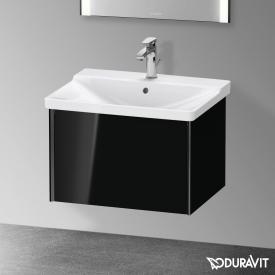 Duravit XViu Waschtischunterschrank mit 1 Auszug schwarz hochglanz, Kante schwarz matt, ohne Einrichtungssystem