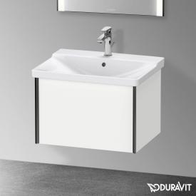 Duravit XViu Waschtischunterschrank mit 1 Auszug weiß matt, Kante schwarz matt, ohne Einrichtungssystem