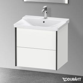 Duravit XViu Waschtischunterschrank mit 2 Auszügen weiß matt, Kante schwarz matt, ohne Einrichtungssystem