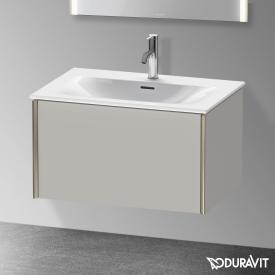 Duravit XViu Waschtischunterschrank mit 1 Auszug betongrau matt, Kante champagner matt, ohne Einrichtungssystem