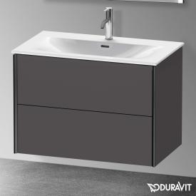 Duravit XViu Waschtischunterschrank mit 2 Auszügen graphit matt, Kante schwarz matt, ohne Einrichtungssystem