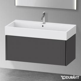 Duravit XViu Waschtischunterschrank mit 1 Auszug graphit matt, Kante schwarz matt, ohne Einrichtungssystem