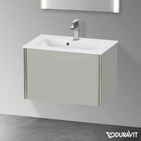 Duravit XViu Waschtischunterschrank Compact mit 1 Auszug betongrau matt, Kante champagner matt, ohne Einrichtungssystem