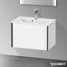 Duravit XViu Waschtischunterschrank Compact mit 1 Auszug weiß matt, Kante schwarz matt, ohne Einrichtungssystem