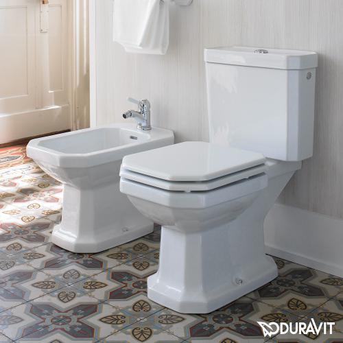 Duravit 1930 Stand-Tiefspül-WC für Kombination weiß mit WonderGliss mit Abgang waagerecht