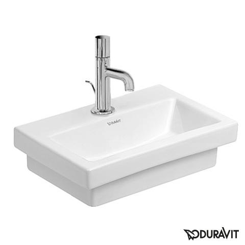 Duravit 2nd Floor Handwaschbecken weiß, mit 1 Hahnloch, ungeschliffen