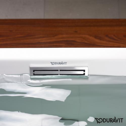 Duravit 2nd Floor Rechteck-Whirlwanne mit LED-Beleuchtung, Einbauversion mit Combi-System E
