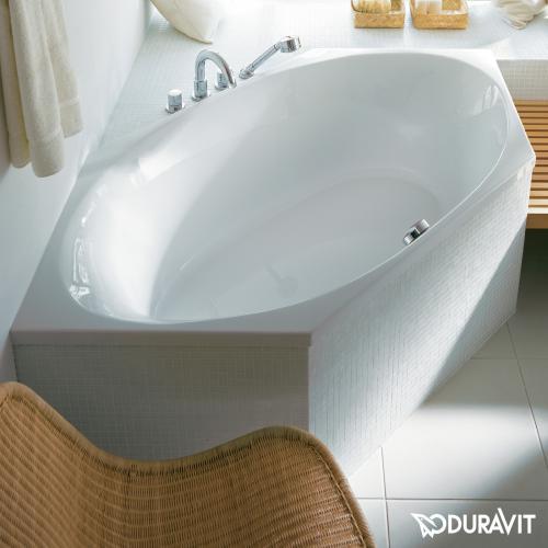 Duravit 2x3 Sechseck-Badewanne, Einbauversion